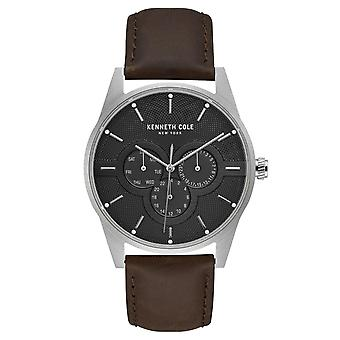 Kenneth Cole New York men's wrist watch analog quartz leather KC15205001