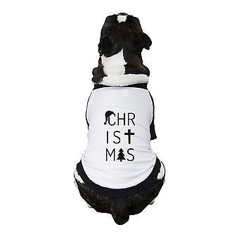 Buchstaben-Weihnachts-Outfit für Haustier niedlich kleine Haustier Hemd weiße Baumwolle