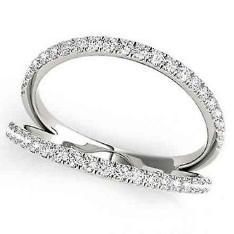 1/4ct Diamond Ring Open Fashion Right Hand Split Band White Gold