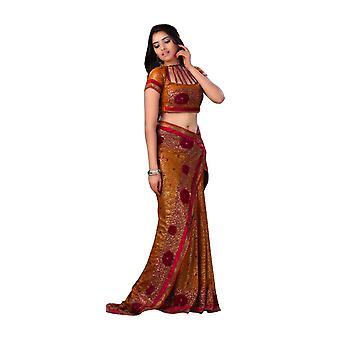 Anuja senape Georgette Designer partito indossare Sari saree
