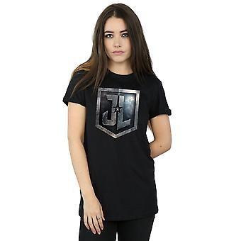 T-shirt Fit Justice League film Shield fidanzato femminile DC Comics