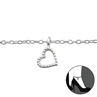 Heart - 925 Sterling Silver Anklets - W27652x