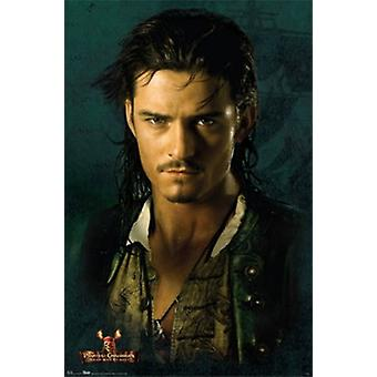Orlando Bloom - pirater #2 Poster affisch Skriv