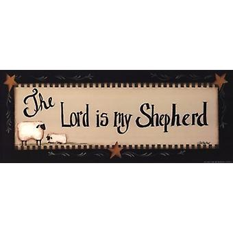 The Lord is My Shepherd Poster Print by Pat Fischer (20 x 8)