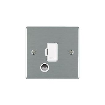 Hamilton Litestat Hartland Satin Stainless 1g 13A Fuse + CO WH/WH
