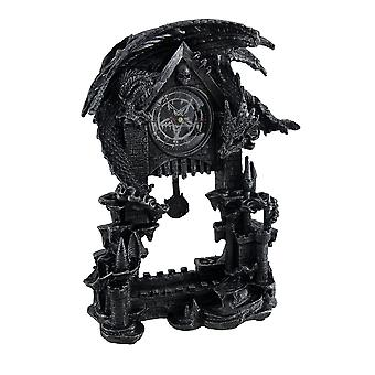 Evil Dragon Pentagram Pendulum Mantel Clock