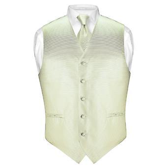 Herren Weste Kleid & Krawatte gewebt Neck Tie horizontalen Stripe-Set