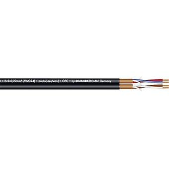Microphone cable 2 x 2 x 0.22 mm² Black Sommer Cable