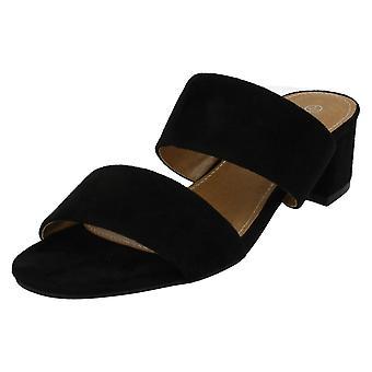 Dames Anne Michelle midden hak Mule riem sandalen F10627