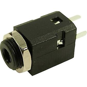 3.5 mm audio jack Socket, build-in Number of pins: 3 Stereo Black Cliff FC681375VH 1 pc(s)