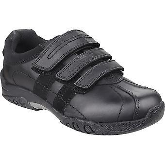 Hush Puppies drenge Seb læder polstret tre rem sko