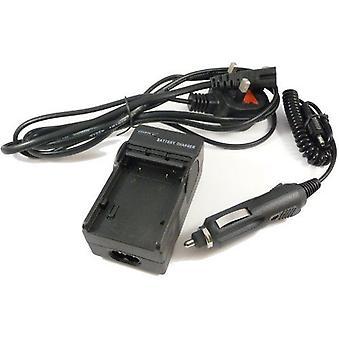 PowerPlanet Samsung IA-BP85SW snabb resa (UK elnätet/bil) batteriladdare för Samsung VP-DX10, VP-DX10H