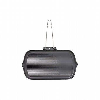 Chasseur Rectangular Smooth-Base Grillpan Wire Handle 37x22cm