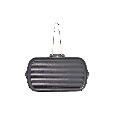 Chasseur Rectangular Smooth-Base Grillpan Wire Handle 37cm 11832701