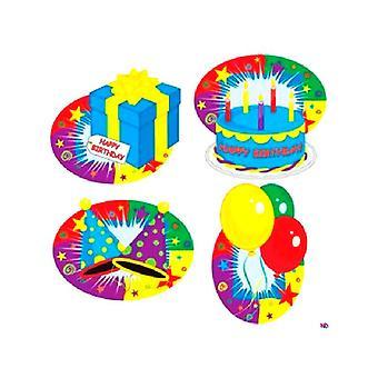 Tillykke med fødselsdagen udskæringer