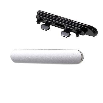 USB + MicroSD lade Jack dekke Cap pakning for Sony Xperia X F5121 F5122 sølv