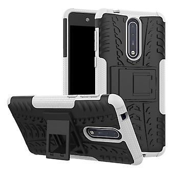 Hybrid case 2 piece SWL outdoor white for Nokia 8 accessories bag case cover protection