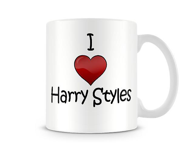 Ich liebe Harry Styles Gedruckt Tasse