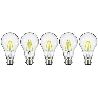 5 X Energizer 7.2W = 60W LED Filament GLS gloeilamp Vintage BC B22 bajonet lampvoet [energieklasse A +]