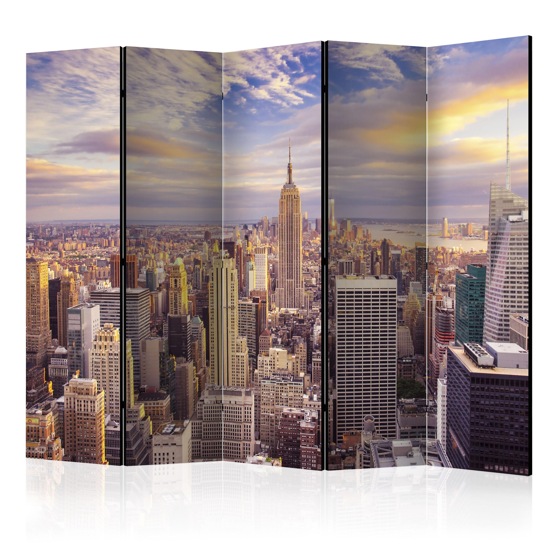 Paravent 5 volets - nouveau York Morning II [Room Dividers]