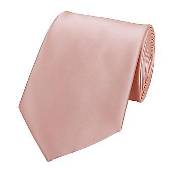 Knytte slipset binde bånd 8cm av laks av rosa uni Fabio Farini