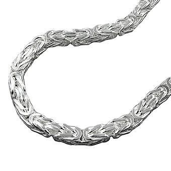 Corrente ca. 5mm o rei cadeia quadrado brilhante 925 prata 60 cm