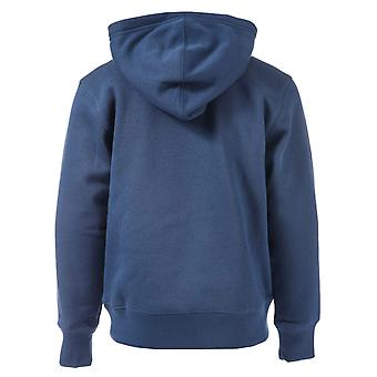 Junior Boys Converse Core Pull Over Hoody In Navy- Ribbed Cuffs And Hem- Sewn In