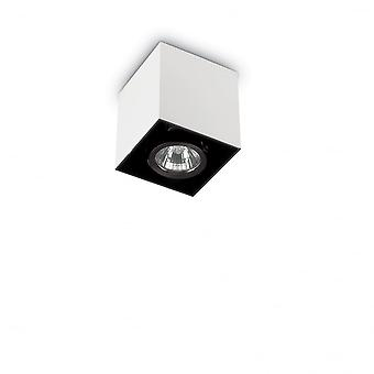 Ideal Lux Mood 8.5cm GU10 White Surface Square Ceiling Spotlight