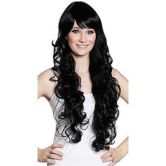 Curls black wig