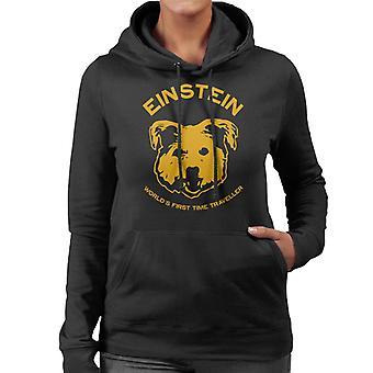 Einstein Time Traveller Back To The Future Women's Hooded Sweatshirt