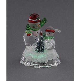 Festive Productions Battery Operated Colour Changing Acrylic Snowman Christmas Decoration