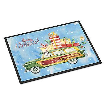 Merry Christmas Dalmatian Indoor or Outdoor Mat 24x36