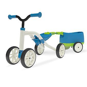 Vélo d'équilibre Chillafish Quadie avec Trailie-bleu