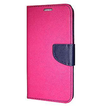 Samsung Galaxy A70 (A705) wallet case Fancy Case Pink-Navy