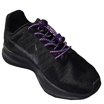 Reflective Purple Elastic Lock Lace