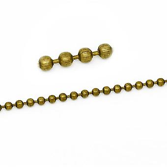 10m x Antique Bronze Anti Tarnish Metal Alloy 2.4mm Closed Ball Chain CH1705
