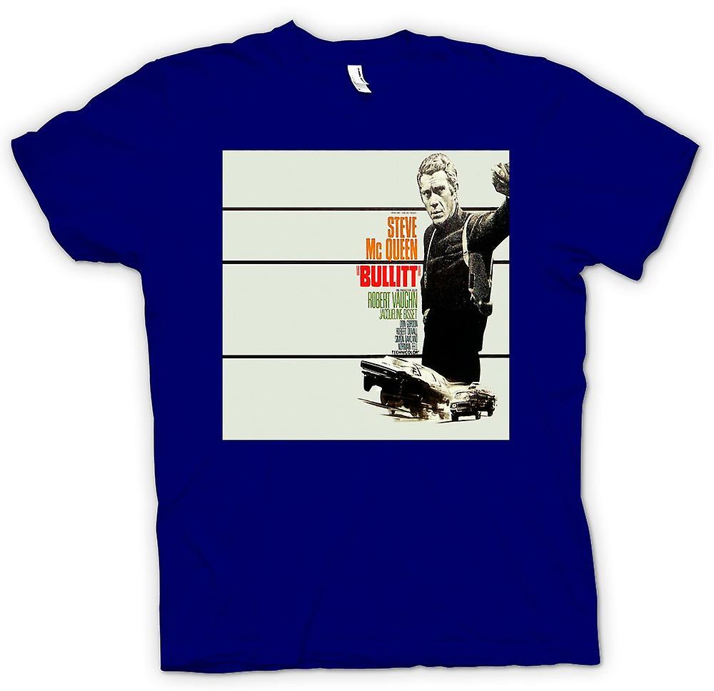 Heren T-shirt - Steve Mcqueen - Bullit - Poster