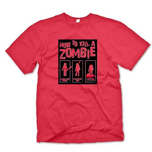 Mens T-shirt - How To Kill A Zombie - Funny
