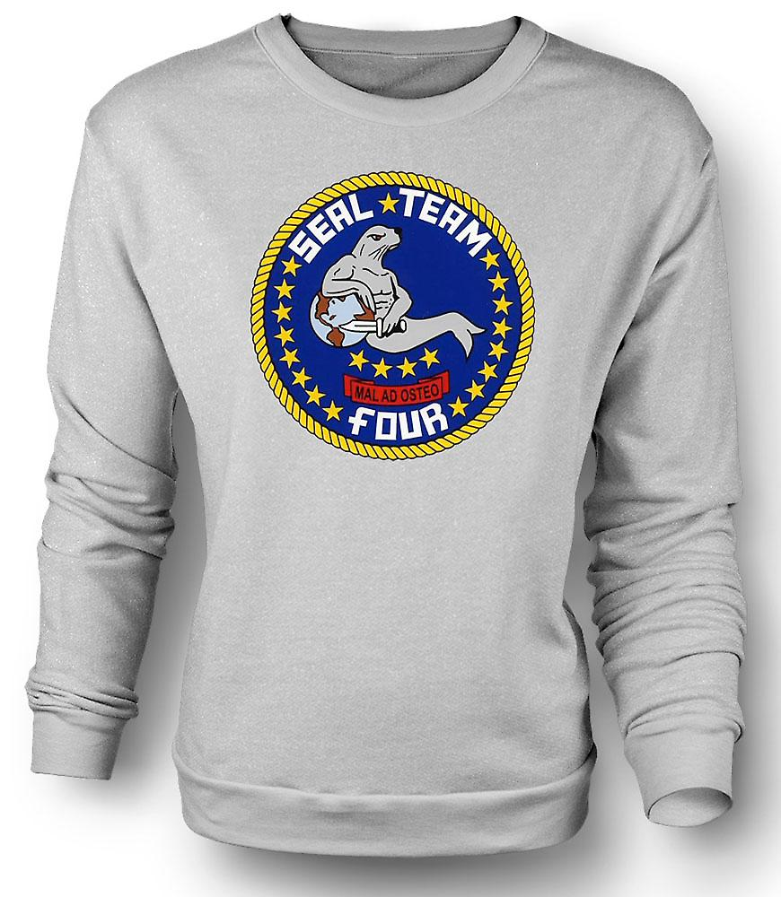 Mens Sweatshirt Seal Team 4 - US Navy