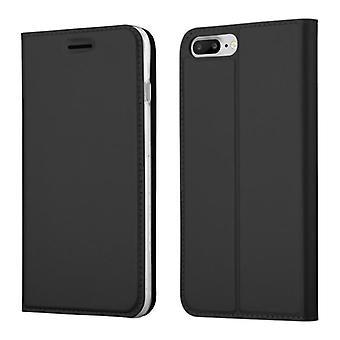 Cadorabo Hülle für Apple iPhone 8 PLUS / iPhone 7 PLUS / iPhone 7S PLUS – Handyhülle mit Standfunktion und Kartenfach im Metallic Look - Case Cover Schutzhülle Etui Tasche Book Klapp Style