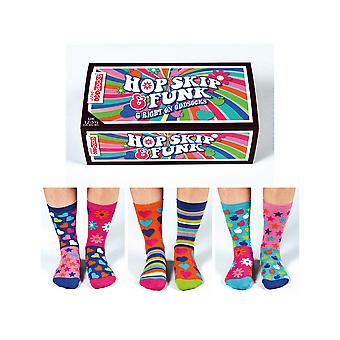 United Oddsocks Hop Skip Funk - Girls Assorted Socks
