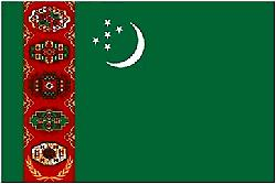 Turkmenistans flagg 5 ft x 3 ft