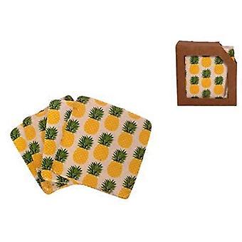 Gisela Graham Ceramic Pineapple Coasters
