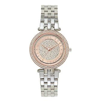 d83990c04497 Sale Michael Kors Watches Mk3446 Mini Darci Rose Gold   Silver Stainless  Steel Ladies Watch