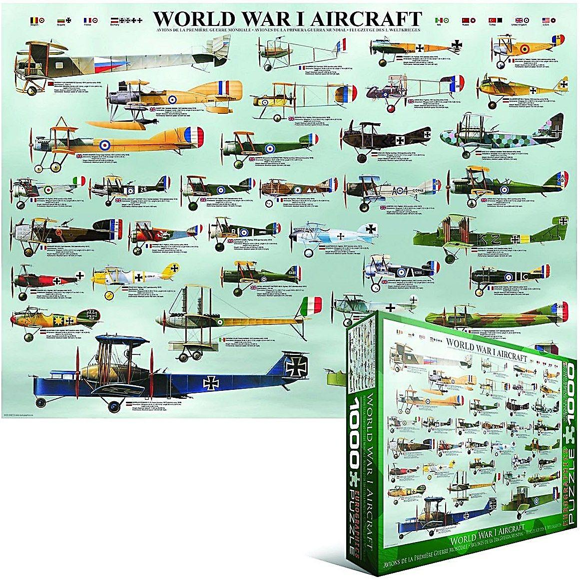World War 1 Aircraft 1000 piece jigsaw puzzle   (pz)