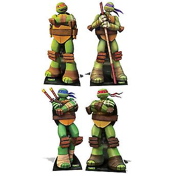 Teenage Mutant Ninja Turtles Lifesize papelão recorte / cartaz / stand-up - conjunto completo de 4