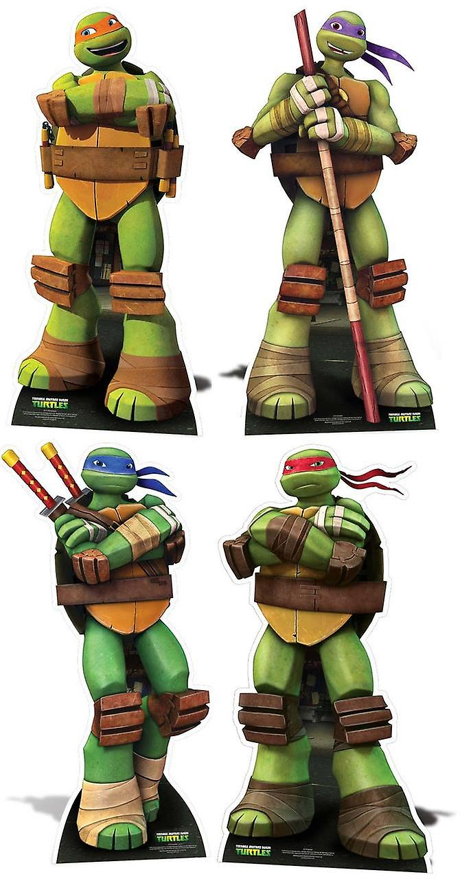 Teenage Mutant Ninja Turtles Lifesize Cardboard Cutout / Standee / Standup - Complete Set of 4