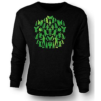 Womens Sweatshirt Dinosaurs And Dragons Collage - Cool