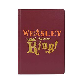 Harry Potter Notebook Ron Weasley Is Our King Logo new Official Red A5