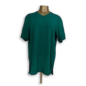 Denim et Cie Essentials Oversized V-Neck Top Green A309331